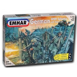 German Infantry & Tank Crew WWI Figures (1/72)