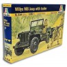 Willys MB Jeep with trailer (1/35)