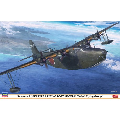 "Kawanishi H8K1 Type 2 Flying Boat ""802nd Flying Group"" Limited Edition (1/72)"