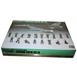 1/48 U.S. Pilot / Ground Crew Set B