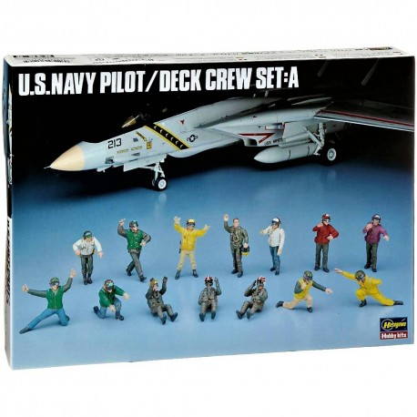 1/48 U.S. Navy Pilot / Deck Crew Set A