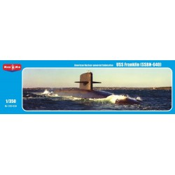 USS Franklin SSBN-640 American Nuclear-Powered Submarine (1/350)
