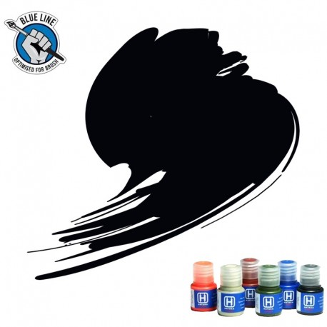 BLUE LINE Jet Black paint (FS37038, RAL 9005) 10ml