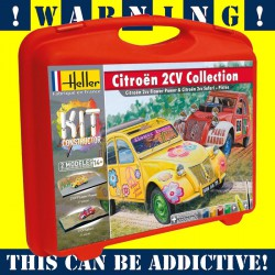 Briefcase with Citroen 2CV Collection 1/43