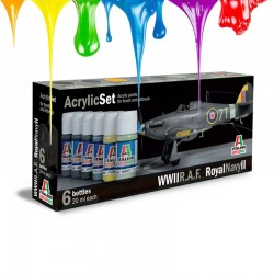 Acrylic set (6 pcs x 20 ml) – WWII RAF/Royal Navy