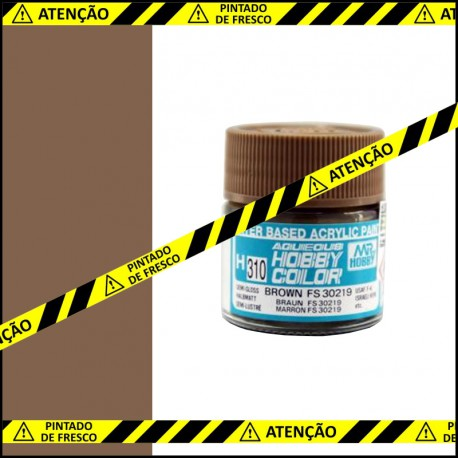 Frasco de tinta Mr. Hobby H-310 Semi-Gloss Brown (FS30219)