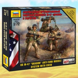 "1/72 US M-47 ""Dragon"" anti-tank missile system with crew"
