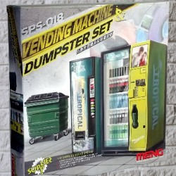 1/35 Vending Machine & Dumpster Set