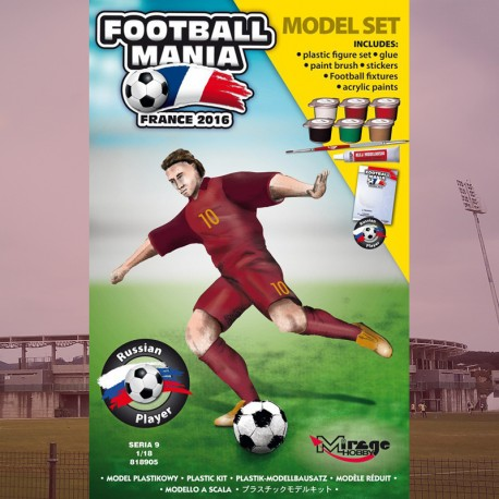 MODEL SET 1/18 Football Player RUSSIA, France 2016