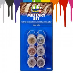 Tintas acrilicas Revell Military Set (6 x 5 ml)