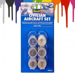 Tintas acrilicas Revell Civilian Aircraft Set (6 x 5 ml)