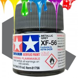 Acrylic Mini XF-56 Metallic Gray - 10ml Bottle