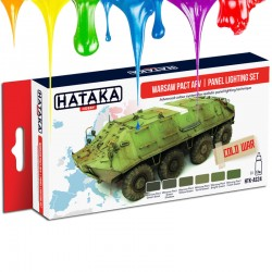 Conjunto de tintas Warsaw Pact AFV | panel lighting set