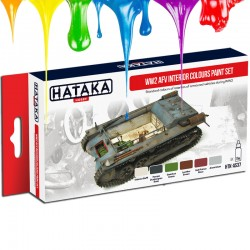WW2 AFV Interior Colours paint set