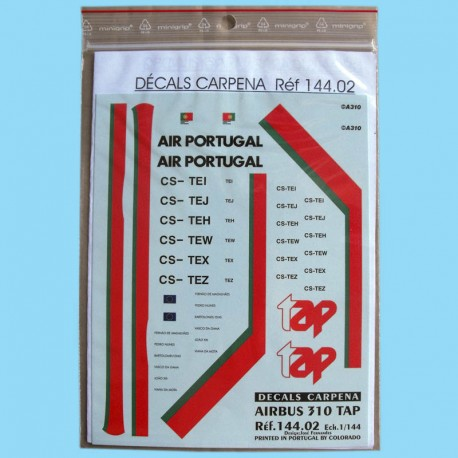 Airbus 310 TAP decals