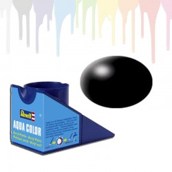 Revell Black RAL 9005, silk Aqua Color (18ml)