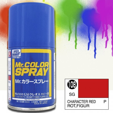 Mr Color Spray 100ml Character Red Satin Gloss