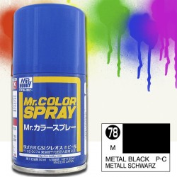 Mr Color Spray 100ml Preto Metal