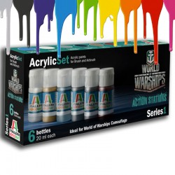 WORLD OF WARSHIPS - Acrylic Paint Set (6 x 20 ml)