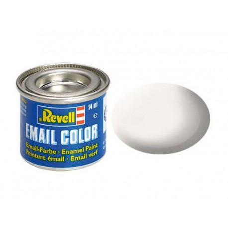 White, mat RAL 9001 14 ml-tin