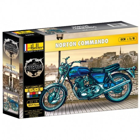 1/8 Norton Commando (set with paints)