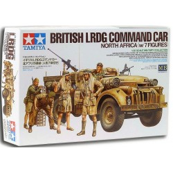 1/35 British LRDG Command Car North Africa (w/7 figures)
