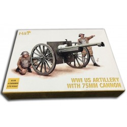 1/72 WWI US Artillery with 75mm Cannon