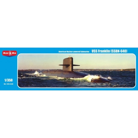 1/350 USS Franklin SSBN-640 American Nuclear-Powered Submarine
