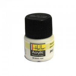 Heller White Mat paint (12ml)