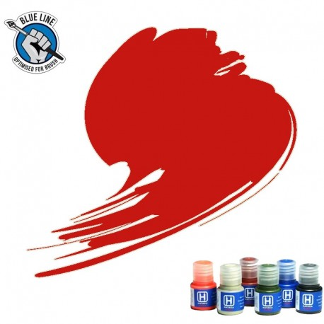 BLUE LINE Traffic Red paint (FS31302, RAL 3020) 10ml