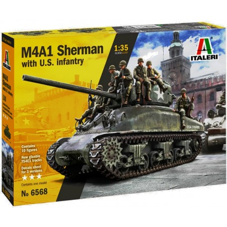1/35 M4A1 SHERMAN with U.S. infantry