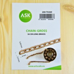 CHAIN: GROSS - 50 cm long (brass)