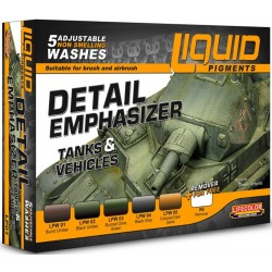 Liquid Pigments Detail Emphasizer Tanks & Vehicles