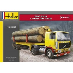 1/32 VOLVO F12-20 & Timber Semi Trailer
