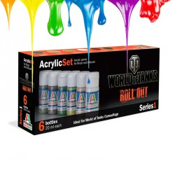 Acrylic set (6 pcs x 20 ml) – Series 1 - World of Tanks