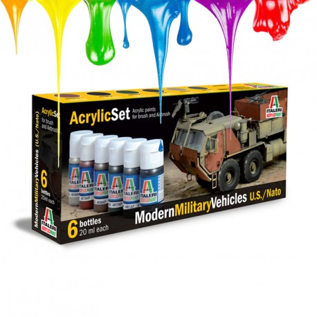 Acrylic set (6 pcs x 20 ml) – Modern Military Vehicles U.S./NATO