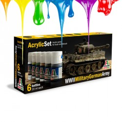 Acrylic set (6 pcs x 20 ml) – WWII Military German Army