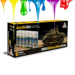 WWll Military Allied Army - Acrylic set (6 x 20 ml)