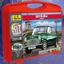 1/43 Austin Mini (carry case with paints + brush + glue + track)