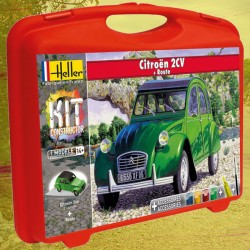 1/43 Citroën 2 CV (carry case with paints + brush + glue + track)