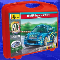 1/43 Subaru Impreza WRC'02 (carry case with paints + brush + glue + track)
