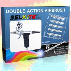 Belkits Double action Airbrush - Gravity Feed Spray Gun