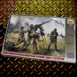 1/35 Soviet DSHK machinegun with crew (WWII)