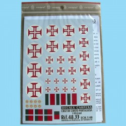 """Cruz de Cristo"" Portugal 52/60 decals"