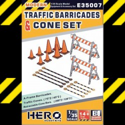 1/35 Modern Traffic Barricades & Cone Set