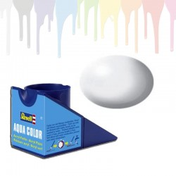 Revell White RAL 9010, silk Aqua Color (18ml)