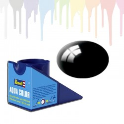 Revell Black RAL 9005, gloss Aqua Color (18ml)