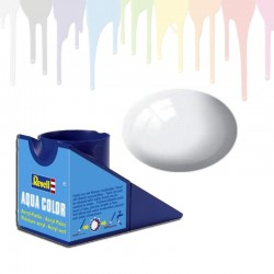 Revell White RAL 9010, gloss Aqua Color (18ml)